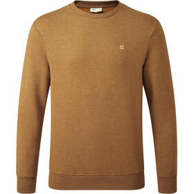 tentree TreeFleece Classic Crew LS Shirt Men rubber brown heather